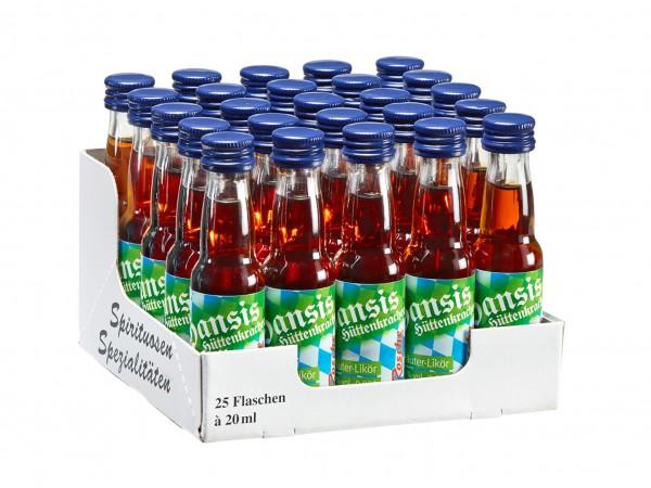 Hansis Hüttenkracher - 25 Flaschen à 20ml