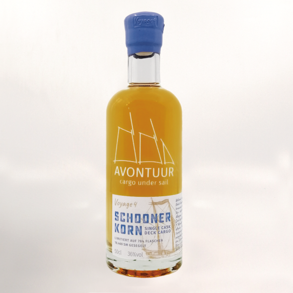 "AVONTUUR ""Schooner"" Single Cask Deck Cargo Haselünne 36 % – gesegelter Korn Voyage 4 - 0,5 l"