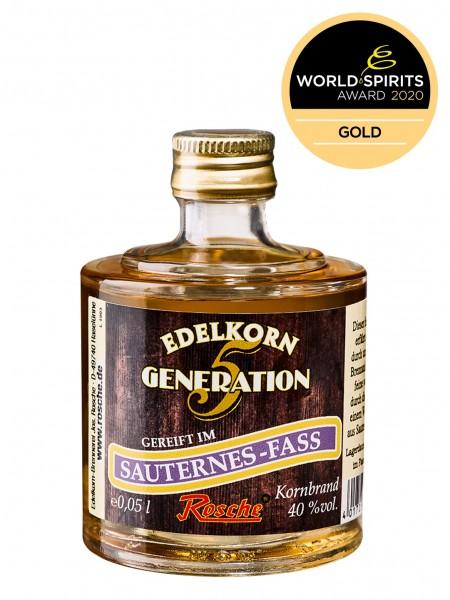 Probierflasche Edelkorn Generation 5 - gereift im Sauternes-Fass