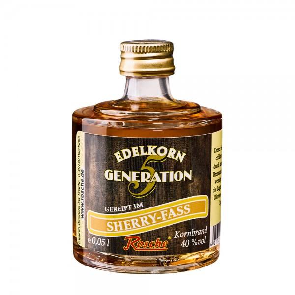 Probierflasche Edelkorn Generation 5 - gereift im Sherry-Fass